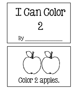 I Can Color To Show How Many!  Numbers 1-5