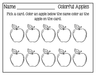 I Can Color To Show How Many! ~ Five Simple Hands-On Math Centers