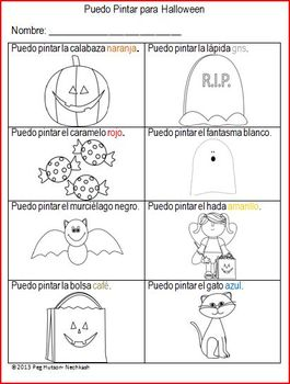 I Can Color for Fall - Spanish version