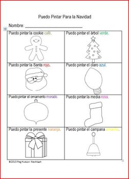 I Can Color for Winter Spanish Version