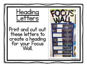 Literacy Common Core Focus Wall - Learning Targets