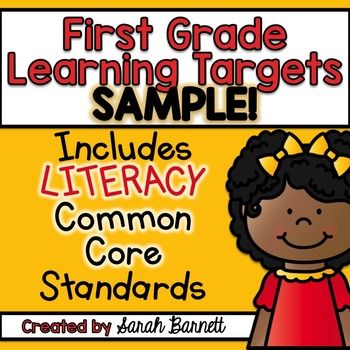 Common Core Focus Wall Sample - Learning Targets