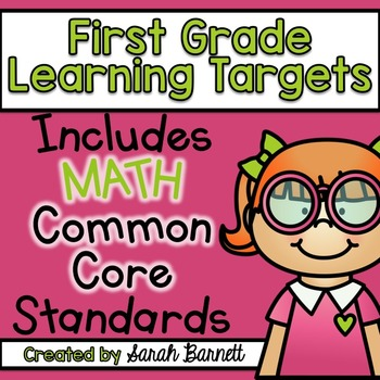 Math Common Core Focus Wall - Learning Targets