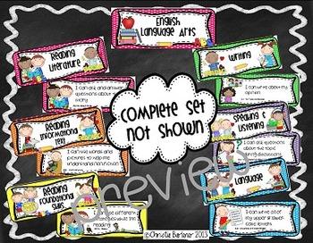 """I Can..."" Common Core Mini-Posters {First Grade}"