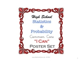 I Can Common Core Poster Set for Statistics and Probability
