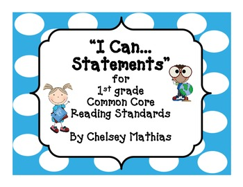 """I Can..."" Common Core Posters for 1st grade"