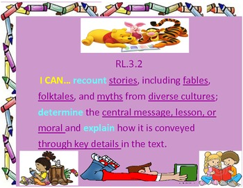 I Can Common Core Statements for Third Grade Reading Literature