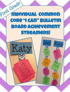 """I Can"" First Grade Common Core (Reading) Streamers"