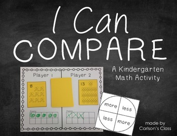 I Can Compare -- A Kindergarten Math Activity