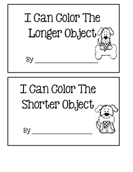 I Can Compare Objects ~ Kindergarten Common Core Series