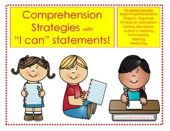 """I Can Comprehend! - Comprehension Packet with """"I Can"""" statements"""