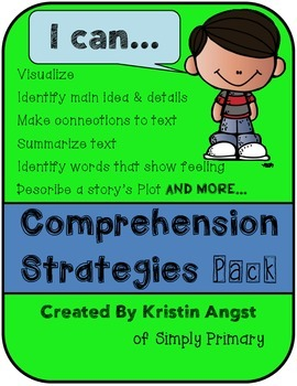 """I Can"" Comprehension Strategies Pack"