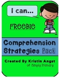 """I Can"" Comprehension Strategies Pack FREEBIE"