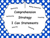 """I Can"" Comprehension Strategy Posters"