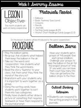 I Can Cooperate-- building your classroom community
