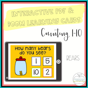 I Can Count Bears Interactive PDF Counting Activity for Special Education