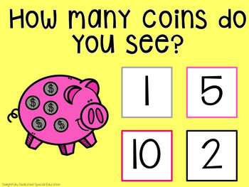 I Can Count Coins Interactive PDF Counting Activity for Special Education