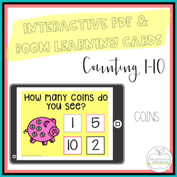 I Can Count Coins Interactive PDF Counting Activity for Sp