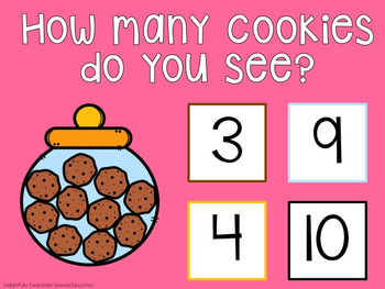 I Can Count Cookies Interactive PDF Counting Activity for Special Education