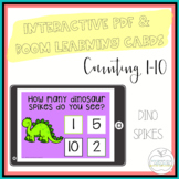 I Can Count Dino Spikes Interactive PDF Counting Activity for Special Education