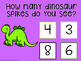 I Can Count Dino Spikes Interactive PDF Counting Activity