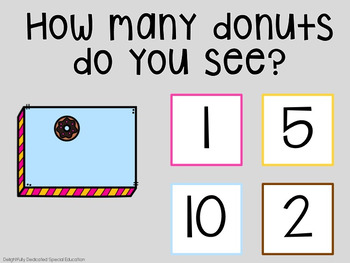 I Can Count Donuts Interactive PDF Counting Activity for Special Education