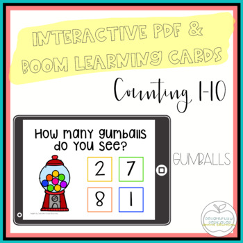 I Can Count Gumballs Interactive PDF Counting Activity for