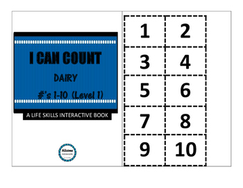 I Can Count Interactive Books- DAIRY