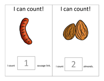 I Can Count Interactive Books- PROTEIN