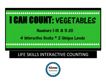 I Can Count Interactive Books- VEGETABLES