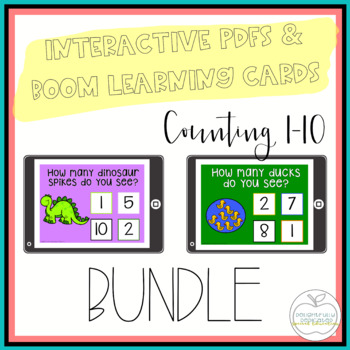 I Can Count Interactive PDF Counting Activities BUNDLE  for Special Education