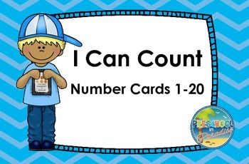 I Can Count  Number Cards 1-20