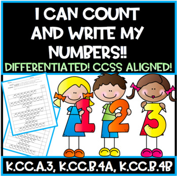 I Can Count Objects!!  (Scaffolded, Differentiated & CCSS