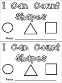 I Can Count Shapes Kindergarten Emergent Reader- 2-d shapes and counting to 10