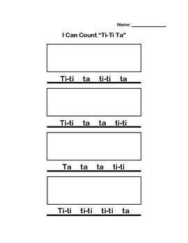 I Can Count Ti-ti ta