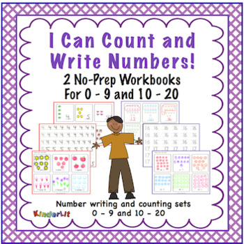 I Can Count and Write Numbers Two No Prep Workbooks