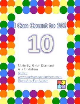 I Can Count to 10! Interactive Reader