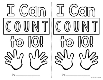 I Can Count to 10! {mini book}