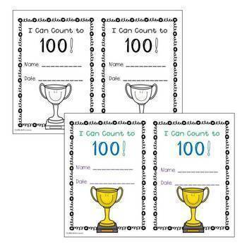 I Can Count to 100 Certificate