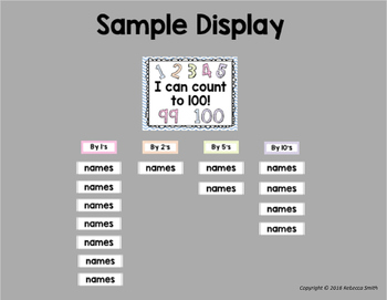 I Can Count to 100! Counting by 1's, 2's, 5's, 10's Display