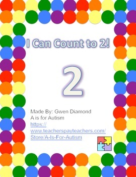 I Can Count to 2! Interactive Reader