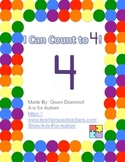 I Can Count to 4! Interactive Reader