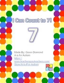 I Can Count to 7! Interactive Reader