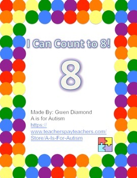 I Can Count to 8! Interactive Reader