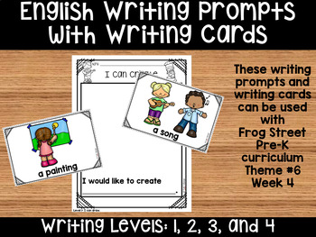I Can Create, English Writing Prompts & Cards Can Be Used With Frog Street