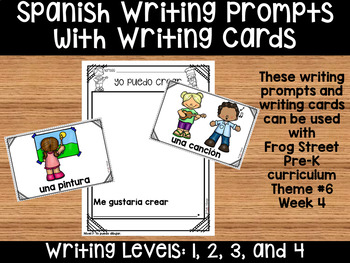 I Can Create, Spanish Writing Prompts & Cards Can Be Used With Frog Street