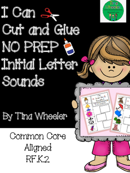 I Can Cut and Glue NO PREP Initial Letter Sounds