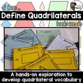 I Can Define Quadrilaterals Task Cards