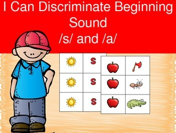 I Can Discriminate Letter Sound - /s/ and /a/