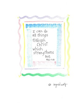 I Can Do All Things Through Christ Posters